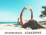 leisure in summer   young women ... | Shutterstock . vector #626630945