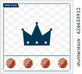 crown   vector icon | Shutterstock .eps vector #626633912