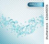 fizzy sparkles in aquarium ... | Shutterstock .eps vector #626640056