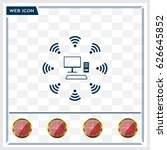 wifi icon around the computer | Shutterstock .eps vector #626645852