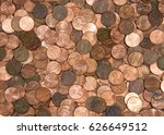 Flat View Pennies. United...