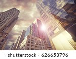 tall skyscraper in new york... | Shutterstock . vector #626653796
