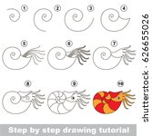 kid game to develop drawing... | Shutterstock .eps vector #626655026