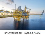 industrial offshore oil and gas ... | Shutterstock . vector #626657102