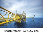 industrial offshore oil and gas ... | Shutterstock . vector #626657126
