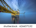 industrial offshore oil and gas ... | Shutterstock . vector #626657132