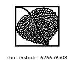 stencil pho leaf by stenciling... | Shutterstock .eps vector #626659508