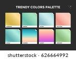 set of colorful trendy gradient ... | Shutterstock . vector #626664992