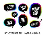 set of colorful bubbles  icons... | Shutterstock .eps vector #626665016