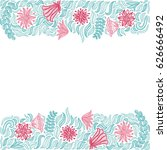beautiful background of green... | Shutterstock .eps vector #626666492