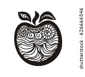 beautiful apple. vector... | Shutterstock .eps vector #626666546