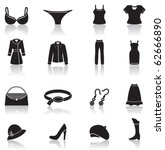 Icons Set Of Female Clothes An...