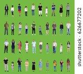 diversity people set gesture... | Shutterstock . vector #626677202