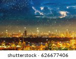 network connection city with...   Shutterstock . vector #626677406