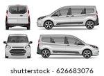 white realistic passenger car... | Shutterstock .eps vector #626683076