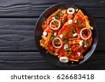 homemade chilaquiles with... | Shutterstock . vector #626683418