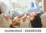 happy mother's day  mom and her ... | Shutterstock . vector #626684186