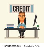 smiling credit manager... | Shutterstock .eps vector #626689778