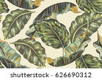 tropical leaves  jungle leaf... | Shutterstock .eps vector #626690312