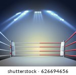 boxing ring with illumination... | Shutterstock . vector #626694656