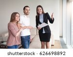 people and real estate. young... | Shutterstock . vector #626698892