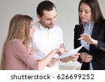 male client holding documents... | Shutterstock . vector #626699252
