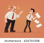 angry boss character yelling at ... | Shutterstock .eps vector #626701508