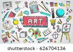 fine art equipment and... | Shutterstock .eps vector #626704136
