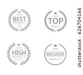 laurel wreath icons. best... | Shutterstock .eps vector #626704166