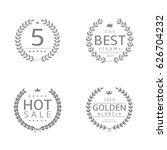 laurel wreath icons. five stars ...   Shutterstock .eps vector #626704232
