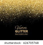 festive black background with... | Shutterstock .eps vector #626705768