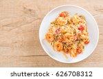 delicious spaghetti with... | Shutterstock . vector #626708312