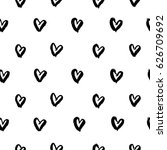 seamless pattern with hand... | Shutterstock .eps vector #626709692