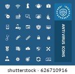 anti virus computer icon set... | Shutterstock .eps vector #626710916