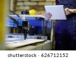 laser engraving machine and... | Shutterstock . vector #626712152