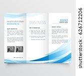 modern clean trifold leaflet... | Shutterstock .eps vector #626712206