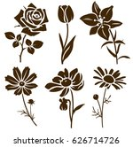 set of decorative flower... | Shutterstock .eps vector #626714726