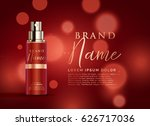 beautiful red cosmetic product... | Shutterstock .eps vector #626717036