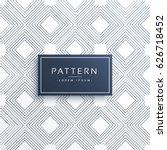 minimal geometric line pattern... | Shutterstock .eps vector #626718452