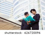 two business man are reading... | Shutterstock . vector #626720096