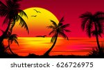 summer tropical backgrounds set ... | Shutterstock .eps vector #626726975