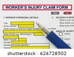 Small photo of Accidental Injury Claim Form - many uses in the insurance industry.