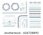 big set of decorative elements... | Shutterstock .eps vector #626728892