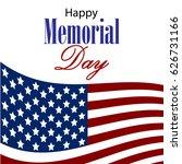 vector happy memorial day card. ...   Shutterstock .eps vector #626731166