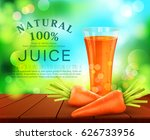 vector with a glass of carrot... | Shutterstock .eps vector #626733956