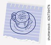 doodle coffee | Shutterstock .eps vector #626736476