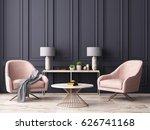 pastel interior in classic... | Shutterstock . vector #626741168