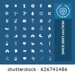 health care icon set clean... | Shutterstock .eps vector #626741486