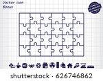 puzzle icon vector | Shutterstock .eps vector #626746862
