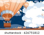 balloon  business goals ... | Shutterstock . vector #626751812